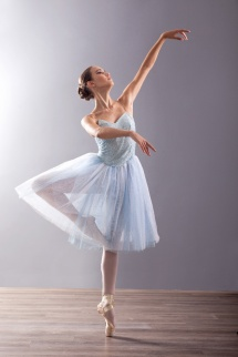 young ballerina in ballet pose classical dance